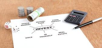 Concept d'options d'investissement Photo libre de droits