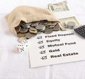 Concept d'options d'investissement Photos stock