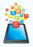 Concept d'ordinateur de tablette Photo stock