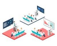 Concept 3D plat isométrique de conférence médical Photos stock