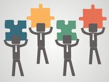 Concept d'équipe - les gens sélectionnent déconcertent  Photo libre de droits
