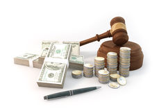 Concept 3d rendering Auction of Financial with a lot of money 10 Stock Photo