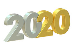 2020 concept, 3D rendering Stock Photography