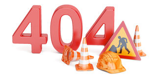 404 concept, 3D rendering Royalty Free Stock Photo