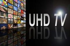 Concept d'UHD TV Image libre de droits