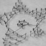 Concept d'un réseau social avec le chef Photo libre de droits