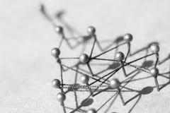 Concept d'un réseau social avec le chef Images libres de droits