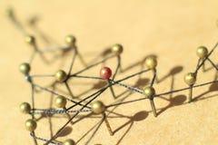 Concept d'un réseau social avec le chef Photo stock