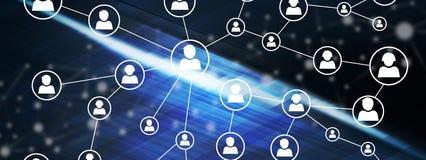 Concept d'un réseau social de media Images stock