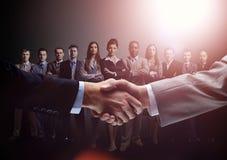 Concept d'une équipe professionnelle d'affaires et d'une association fiable Image stock