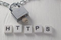 Concept d'une connexion sécurisée au site Web Image stock