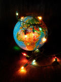 Concept d'une menace de l'effet de serre provoqué par les lampes à incandescence Photo libre de droits
