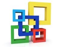 Concept d'unité avec cinq cadres Image stock