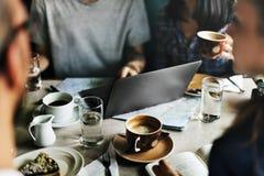 Concept d'unité d'amitié de restaurant de café de café Image libre de droits