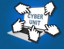 Concept d'unité de Cyber Photos stock