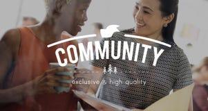 Concept d'unité de réseau de connexion de la Communauté Photo stock