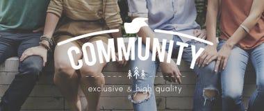Concept d'unité de réseau de connexion de la Communauté Image libre de droits