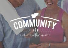 Concept d'unité de réseau de connexion de la Communauté Photos stock