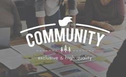 Concept d'unité de réseau de connexion de la Communauté Images libres de droits