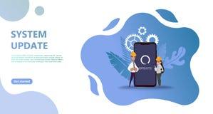 Concept d'upgrate de système de mise à jour d'entretien illustration libre de droits