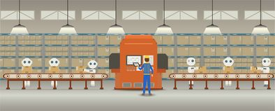 Concept d'usine d'automation illustration libre de droits