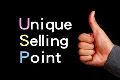 Concept d'USP image stock