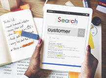 Concept d'utilisateur de client de cible d'acheteur de client de client Images libres de droits