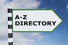 Concept d'A-Z Directory illustration de vecteur
