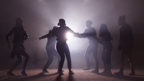 Concept of dancing at disco party. Having fun with friends. stock video footage