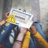 Concept dangereux d'aide de précaution d'avertissement d'accidents Photographie stock libre de droits