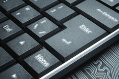 The concept of the dark Internet. Keyboard buttons close-up. Royalty Free Stock Photos