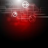 Concept dark red technology design Stock Photo