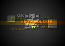 Concept dark technology background Royalty Free Stock Images