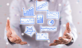 Concept of data analysis Royalty Free Stock Photography