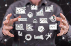 Concept of data analysis Stock Images