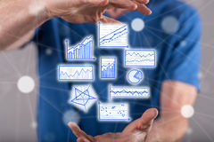 Concept of data analysis Royalty Free Stock Photo