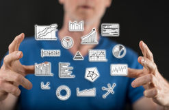 Concept of data analysis Royalty Free Stock Images