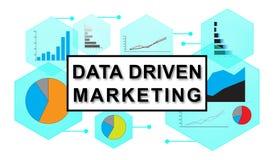 Concept of data driven marketing. Illustration of a data driven marketing concept Royalty Free Stock Photos