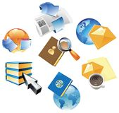Concept for data and media Royalty Free Stock Photo