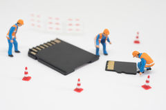 Concept of data recovery. Royalty Free Stock Photos