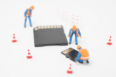Concept of data recovery. Stock Photography