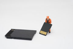 Concept of data recovery. Royalty Free Stock Image