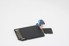Concept of data recovery. Stock Images