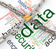 Concept of data security Stock Photos