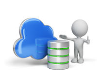 The concept of data storage. The concept of storing data in the cloud. 3d image. White background Stock Photography