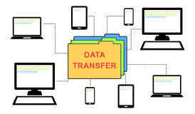 Concept of data transfer Royalty Free Stock Images