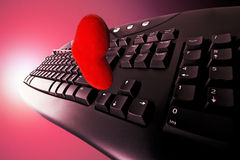 Concept dating on-line in red Stock Images