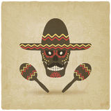 Concept for Day of the dead. sugar skull in Royalty Free Stock Photos