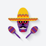 Concept for Day of the dead. sugar skull in Royalty Free Stock Images
