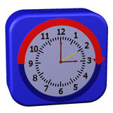 Concept - Daylight Saving Time Started. On white background. 3D render stock illustration